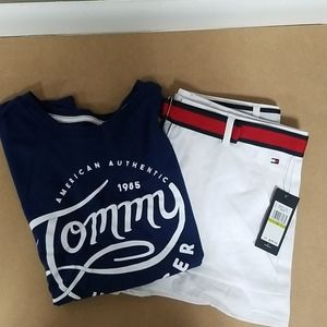 Girls Tommy hilfiger outfit large